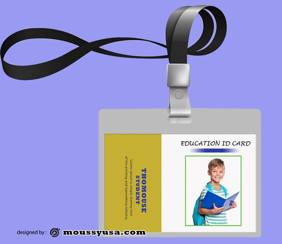 Education ID Card Design Template
