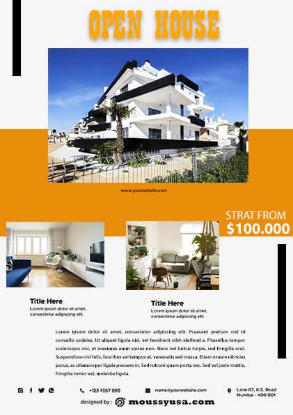 Elegant Open House Flyer design ideas
