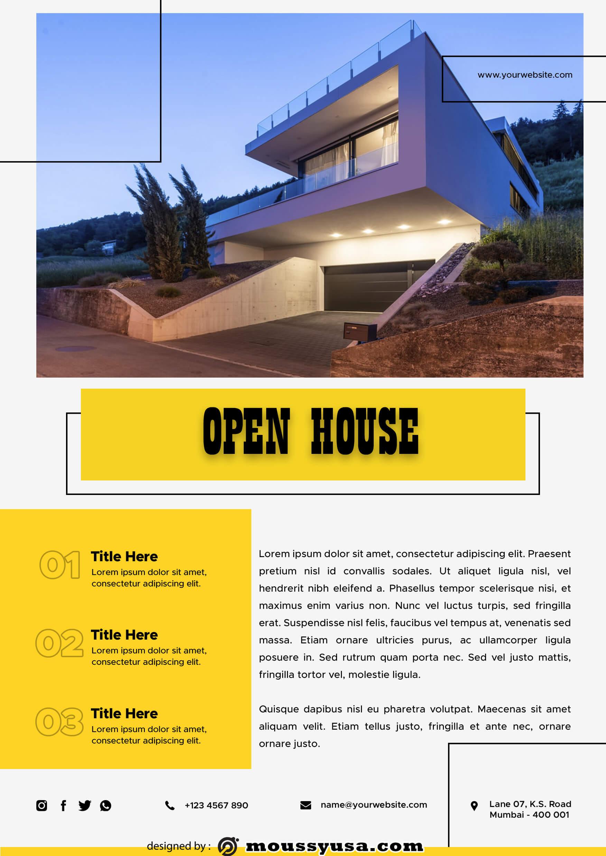 Elegant Open House Flyer template sample