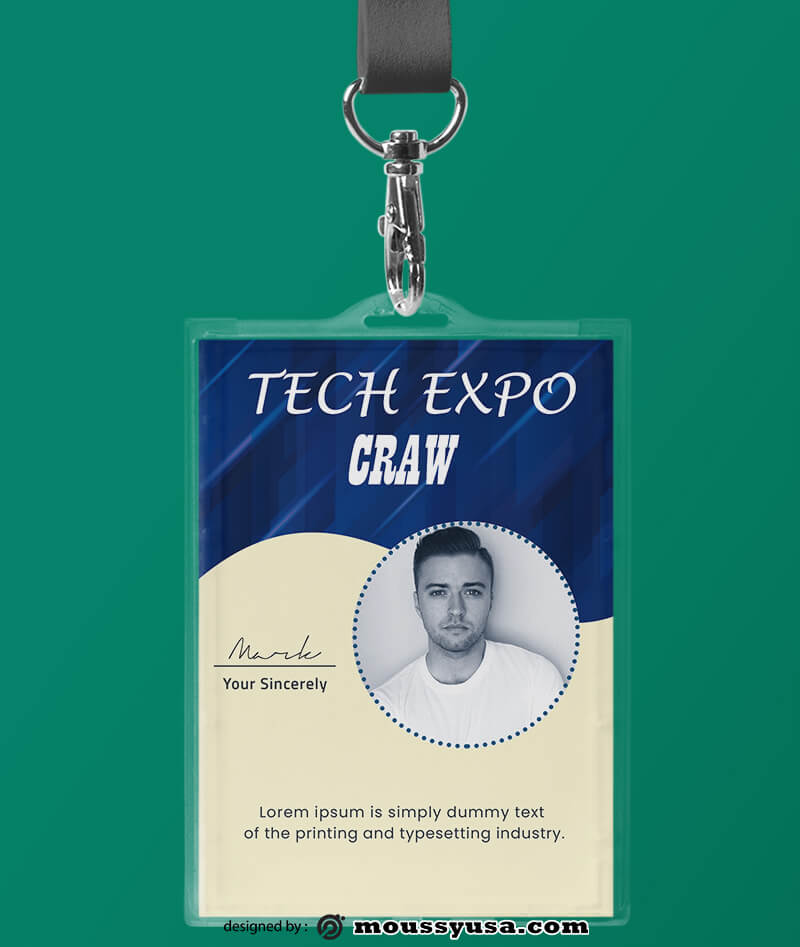 Event ID Card Template Sample