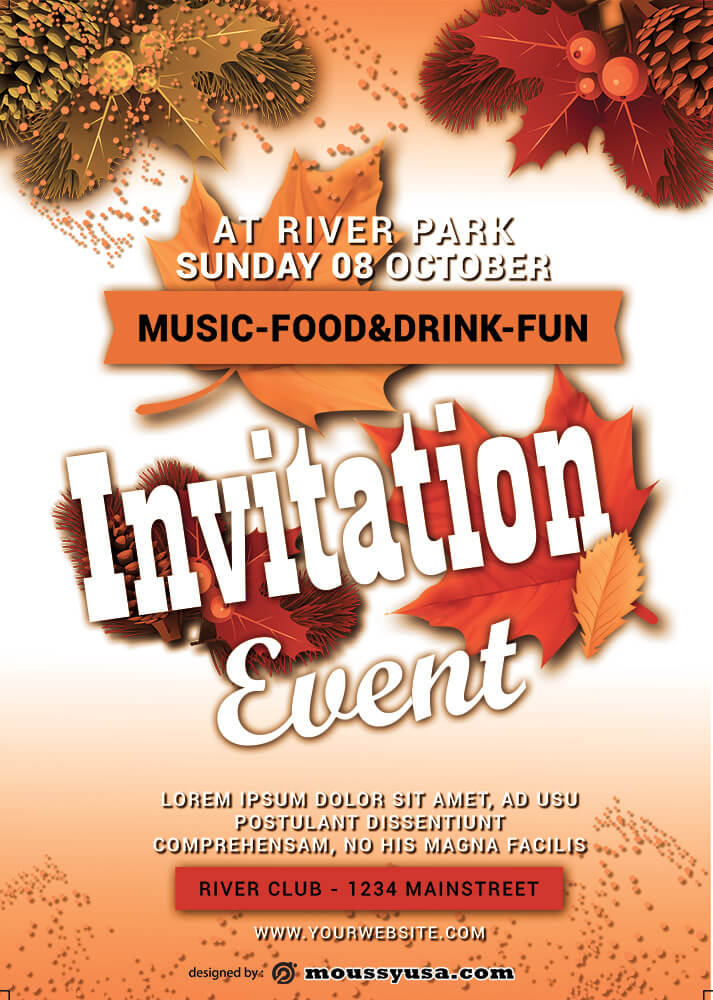 Event Invitation Design PSD