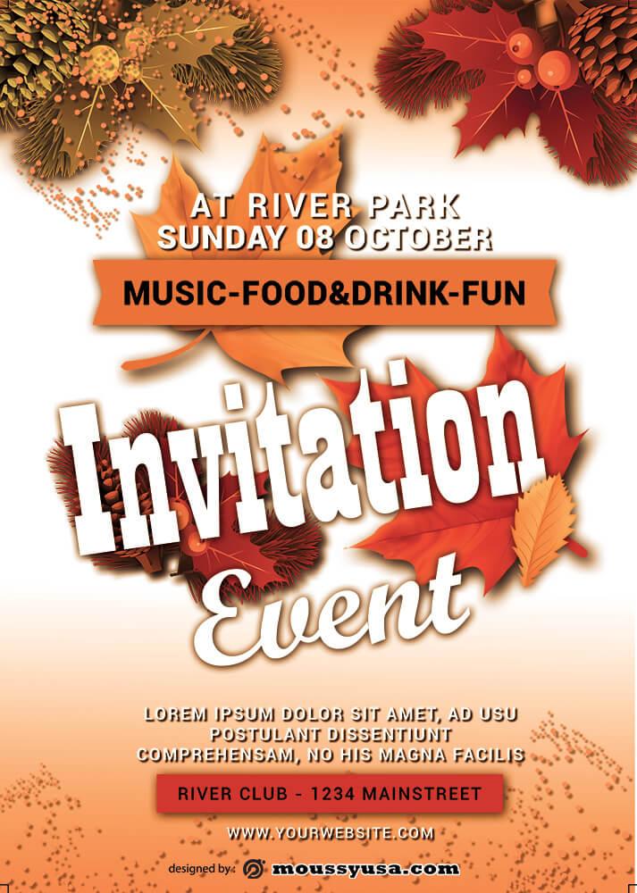 Event Invitation Design PSD