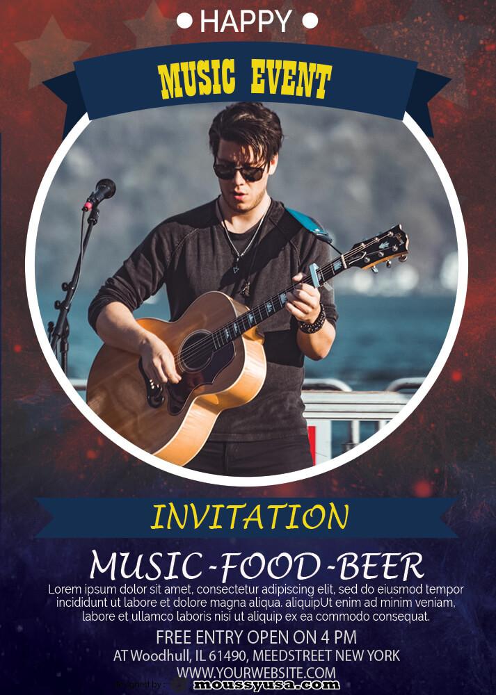 Event Invitation Design Template