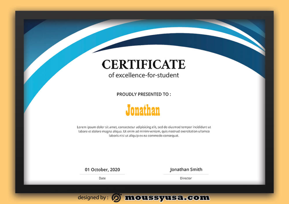 Excellence For StudentcCertificate