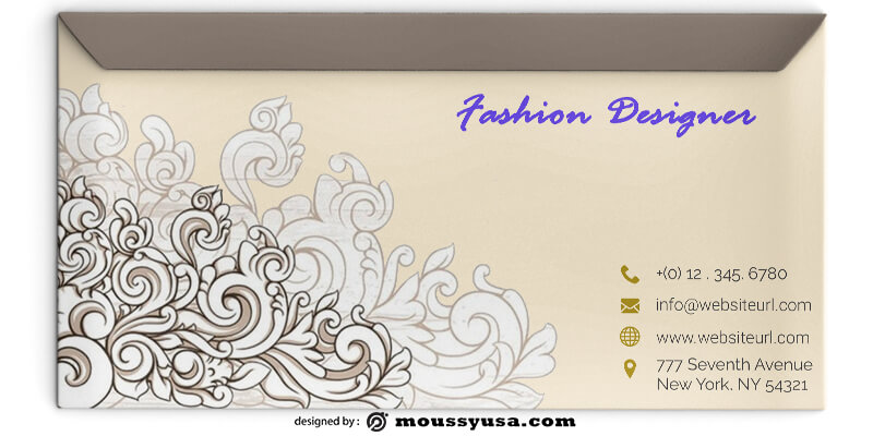 Fashion Designer Envelope Template Sample