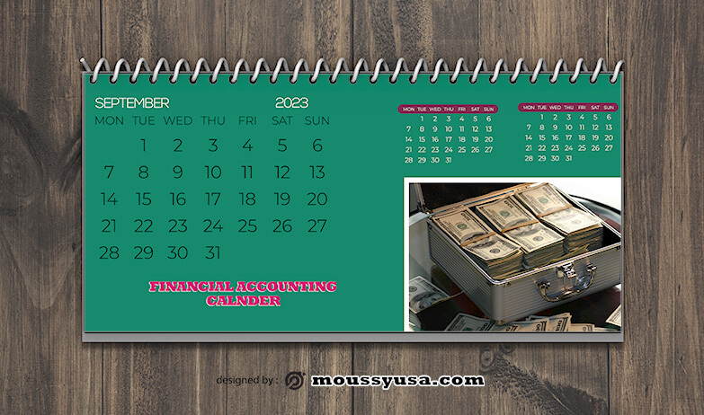 Financial Accounting Calender Design Ideas