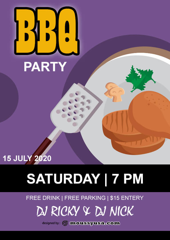 Free BBQ flyer template design