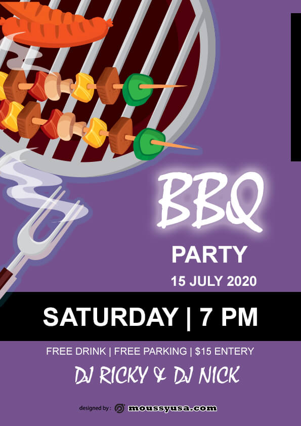 Free BBQ flyer template ideas