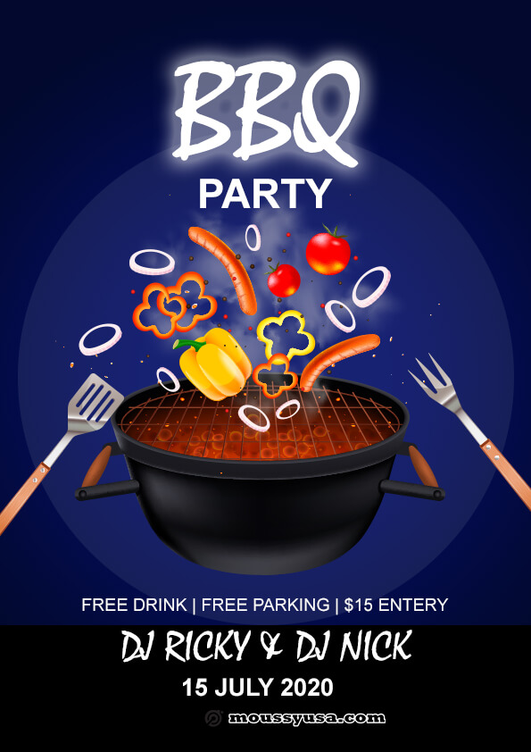 Free BBQ flyer template sample