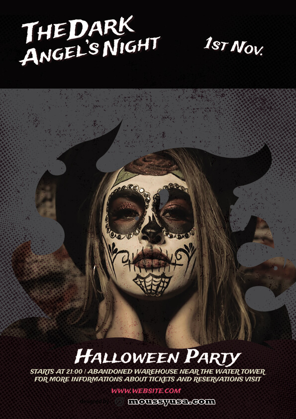 Free Halloween Skull Flyer template sample