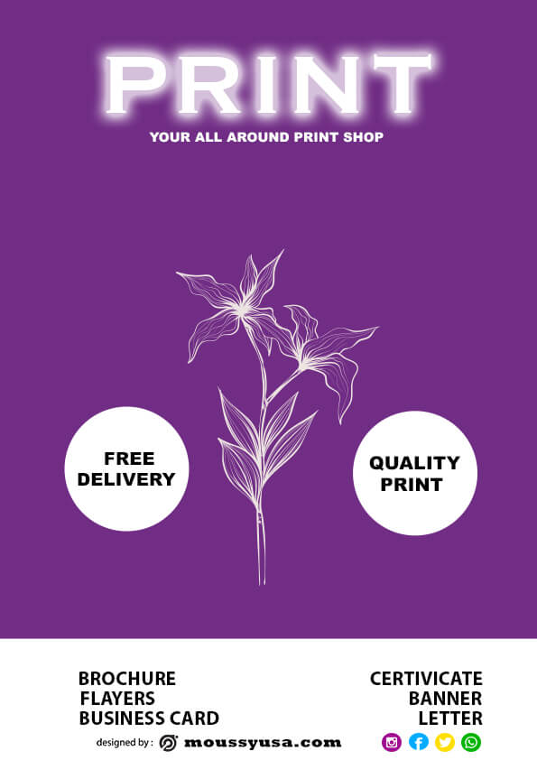 Free Print Shop Flyer template design