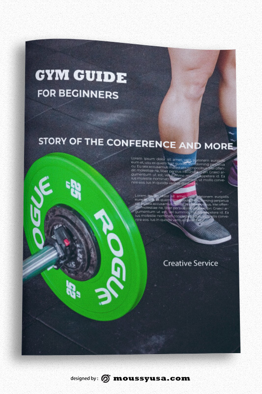 GYM Book Cover Template Sample