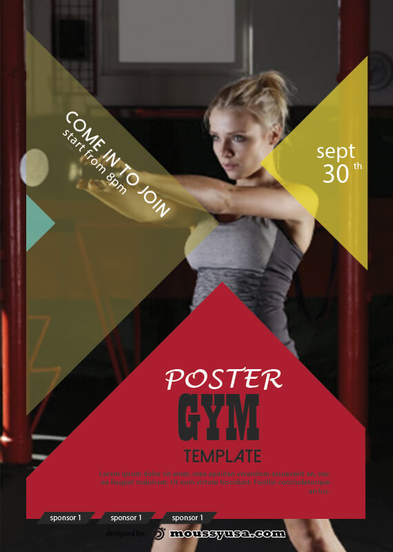 GYM Poster Template Design