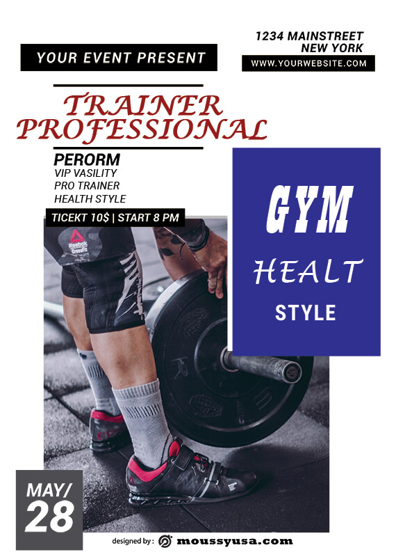 GYM Poster Template Ideas