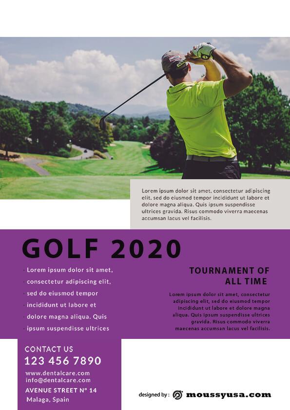 Golf Flyer template design