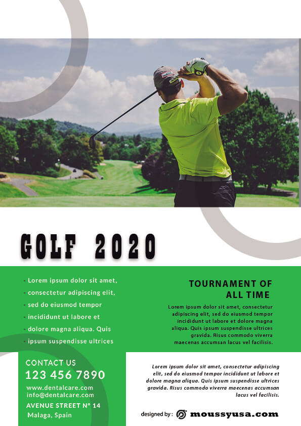Golf Flyer template ideas