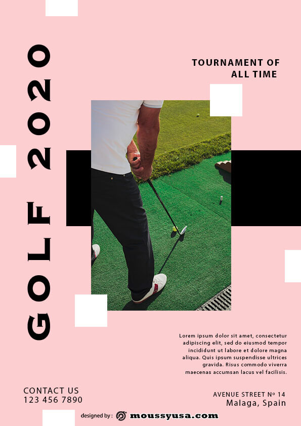 Golf Flyer template sample