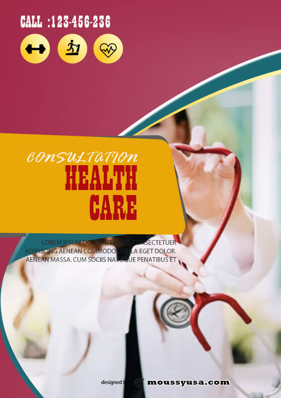 Health Care Poster Template Sample