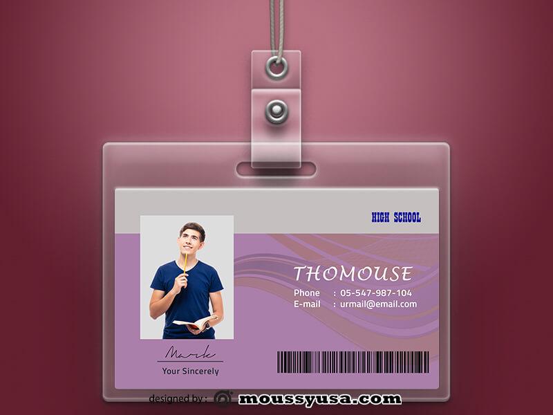 High School ID Card Design Ideas