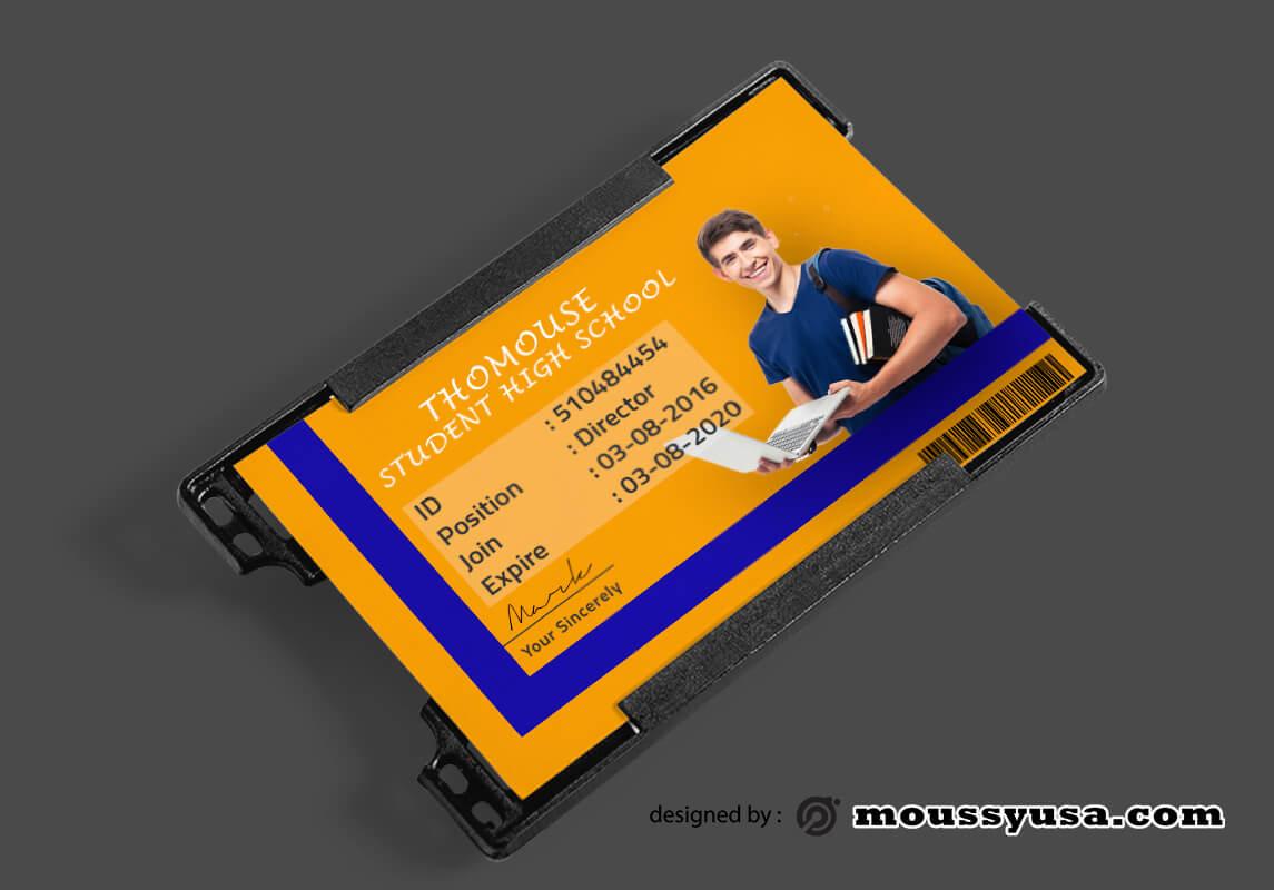 High School ID Card Design PSD