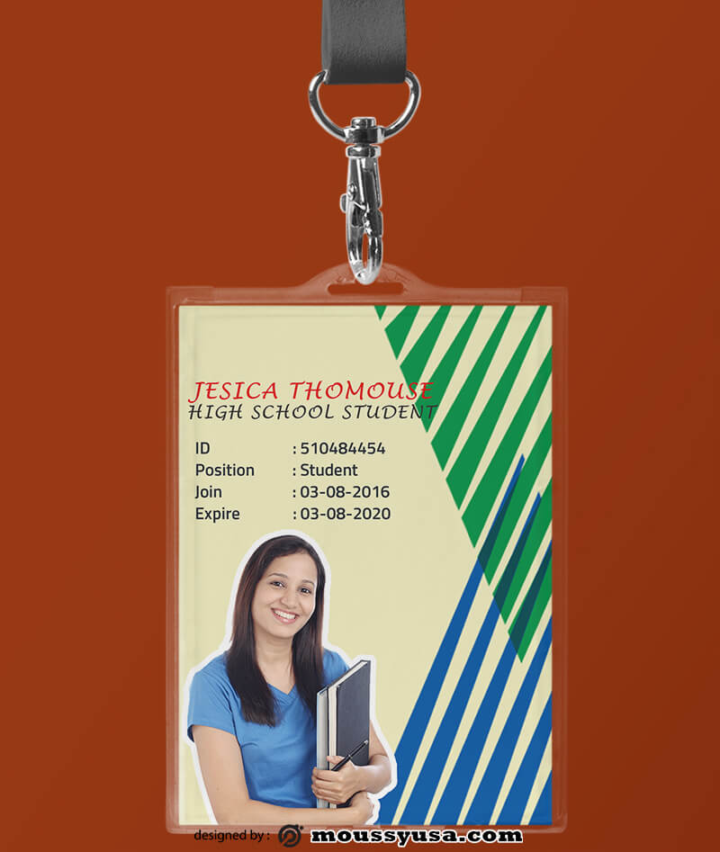 High School ID Card Design Template