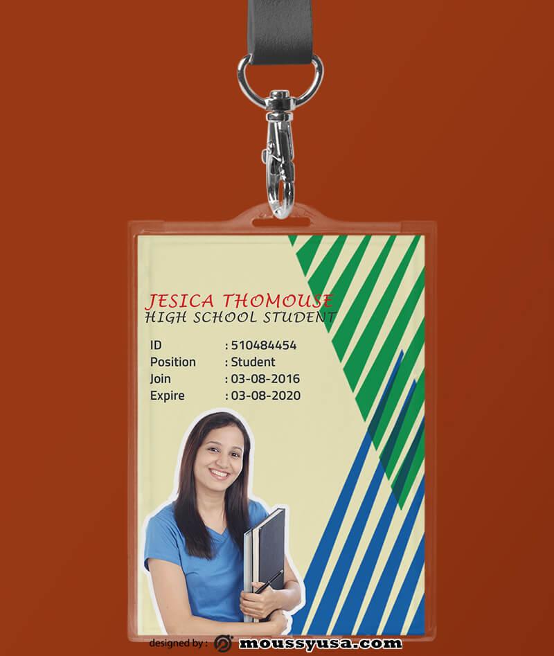 High School ID Card Design Template