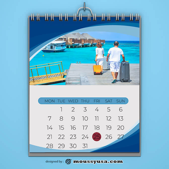Holiday Calender Template Design