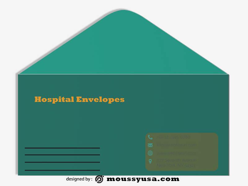 Hospital Envelope Template Design
