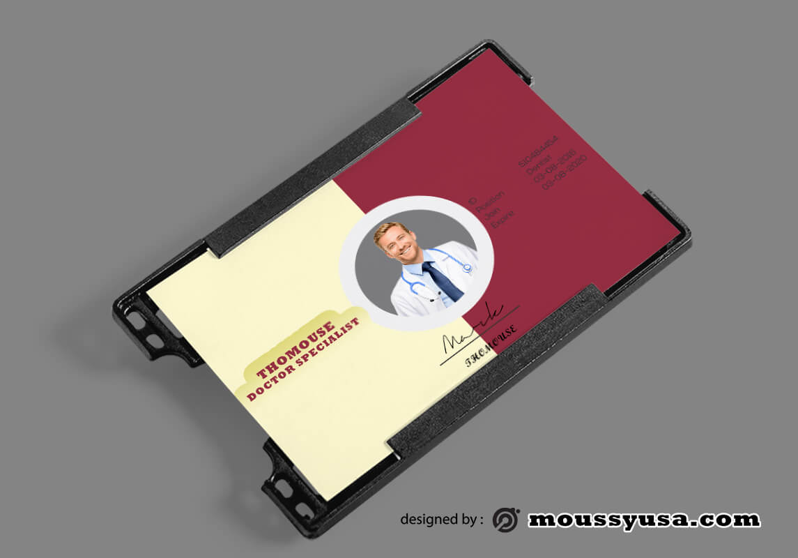 Hospital ID Card Template Design