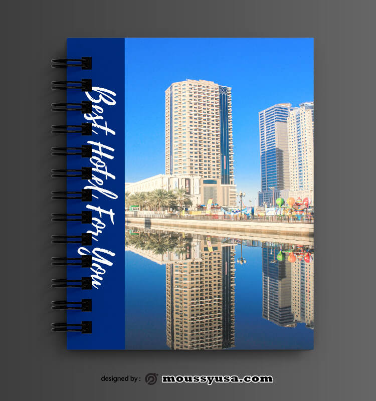 Hotel Book Cover Design PSD