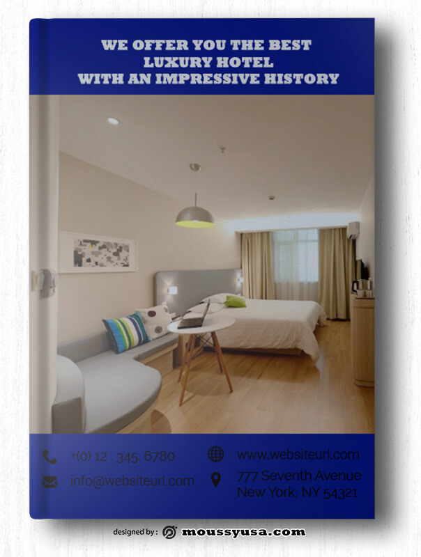 Hotel Book Cover Template Example