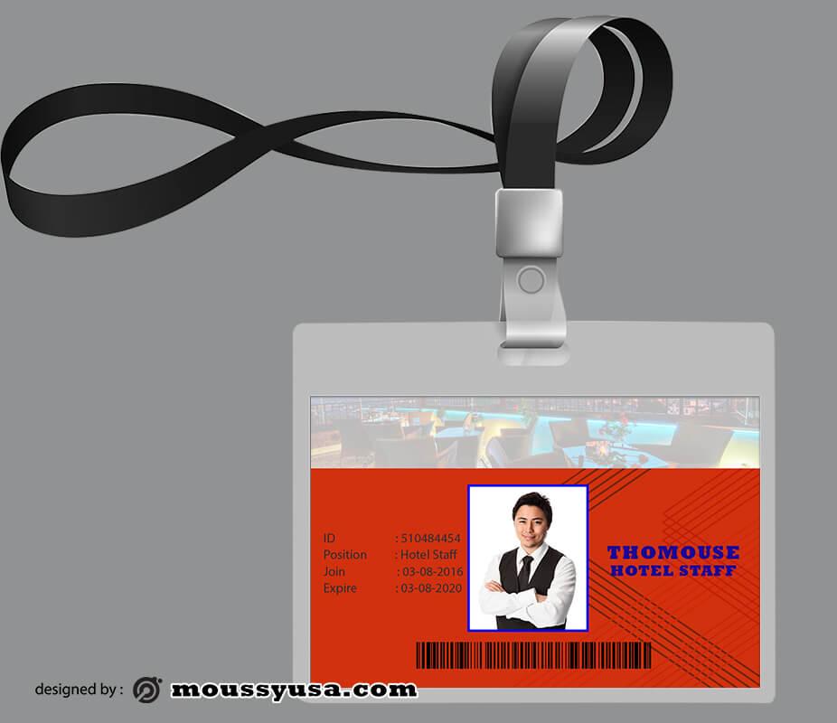 Hotel ID Card Design PSD