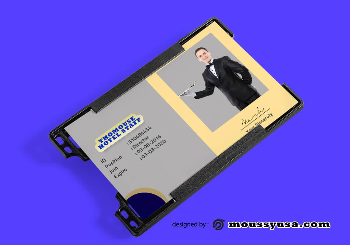 Hotel ID Card Design Template