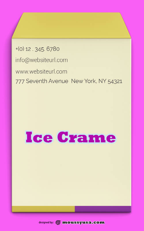 Ice Crame Envelope Template Ideas