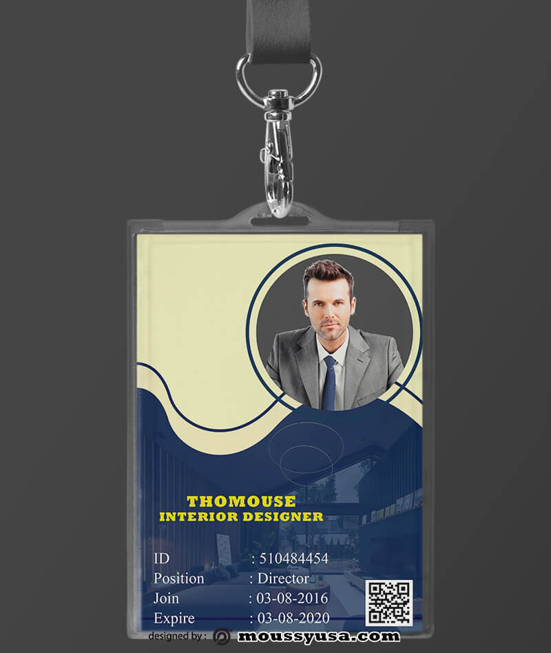 Interior Designer ID Card Template Design