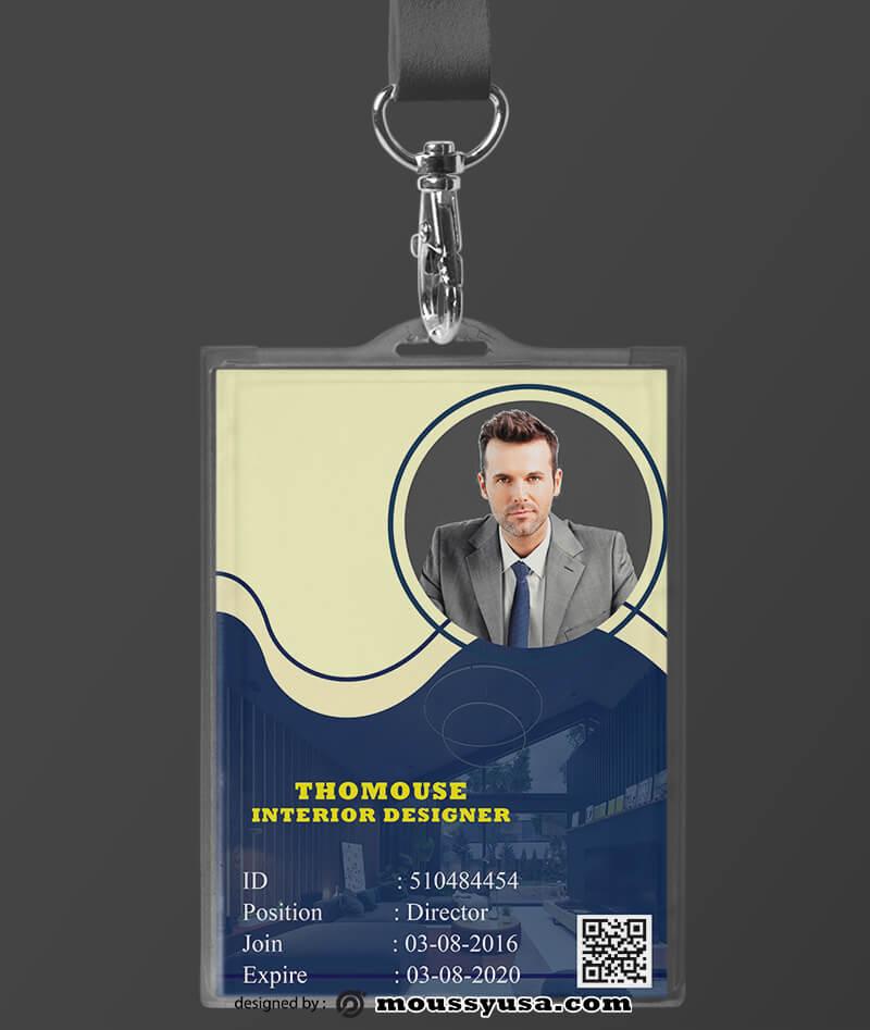 Interior Designer ID Card Template Design
