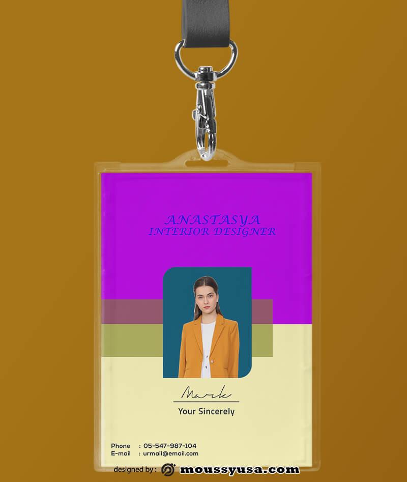 Interior Designer ID Card Template Example