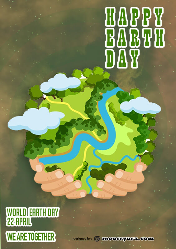 International Earth Day Poster Template Sample