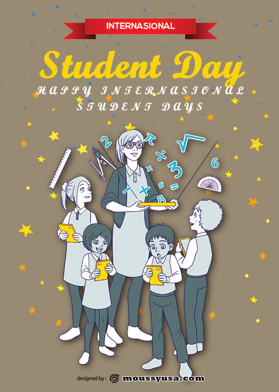 International Students Day Poster Design Template