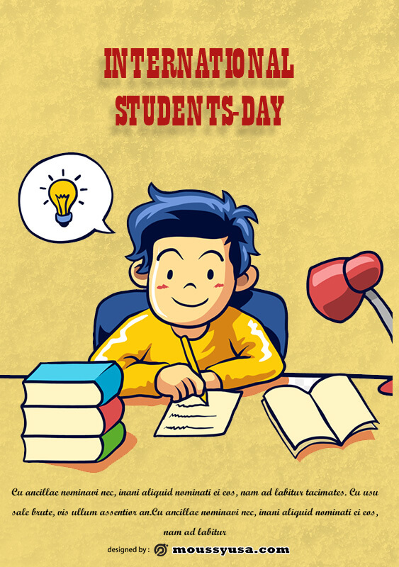 International Students Day Poster Template Example