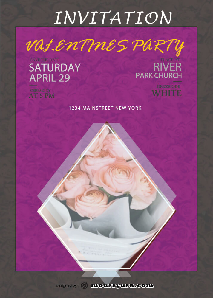 Invitation Valentines Party Template Example