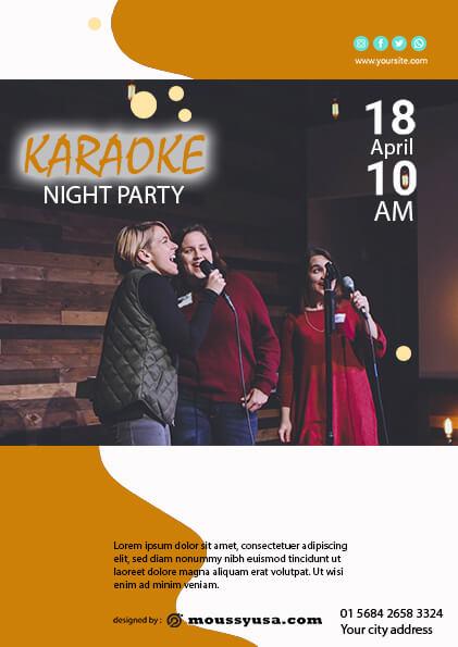 Karaoke Party Flyer template design