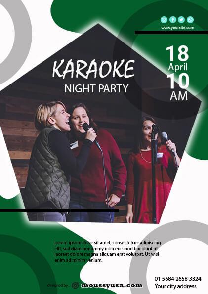 Karaoke Party Flyer template ideas