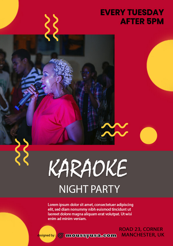 Karaoke Party Flyer template sample