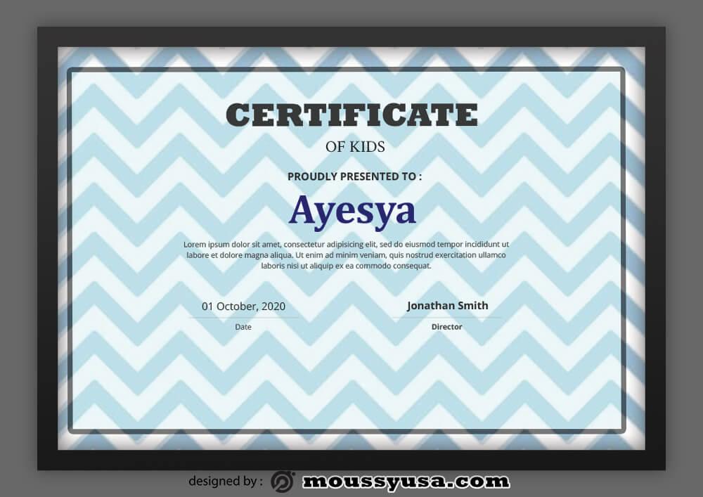 Kids Certificate Template Design
