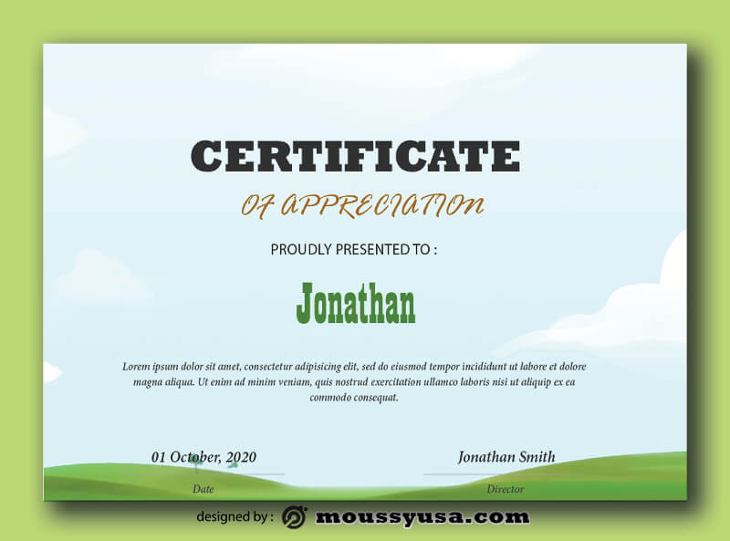 Kids Certificate Template Ideas