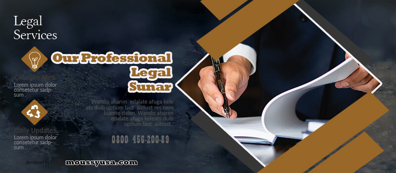 Legal Service Banner Template Sample