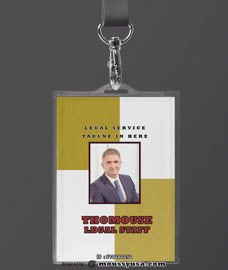 Legal Service ID Card Template Design