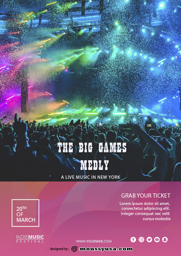 Live Music Festival Flyer template design