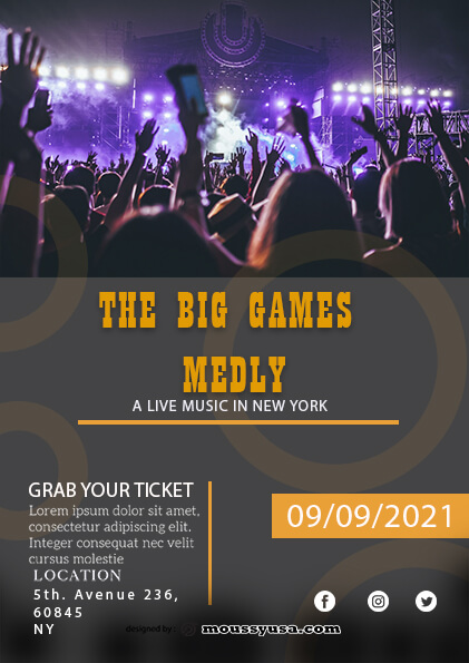 Live Music Festival Flyer template ideas